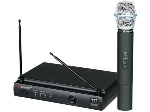 Microfone sem fio de frequência fixa
