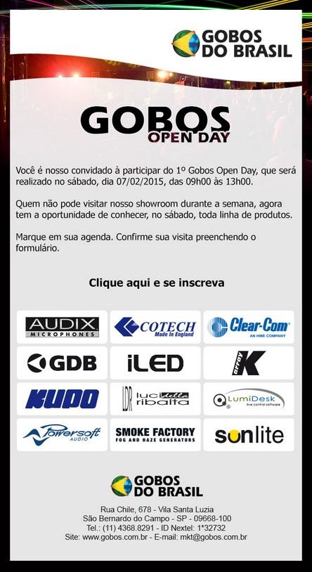Gobos Open Day – Showroom aberto para visitação dia 07/02/2015